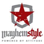 Mayhem style logo and symbol (transparent)