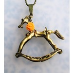 Orange flower horse
