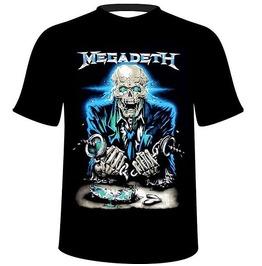 Megadeth, Skull, Skeleton,T Shirt,Tee,Tshirt