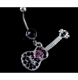 Cool! Guitar Purple Crystal Belly Bar