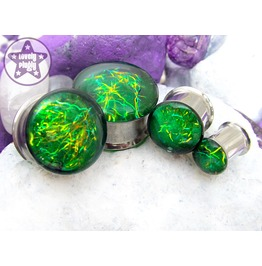 Entanglement Green Yellow One Plug Only 12mm 14mm 16mm 18mm
