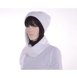 White Winter Fleece Hat Extra Long Stocking Cap Tassel Mens Hat Womens Hat Long Tail Hat