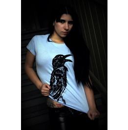 """""""Crow"""" Women Shirt / Light Blue"""