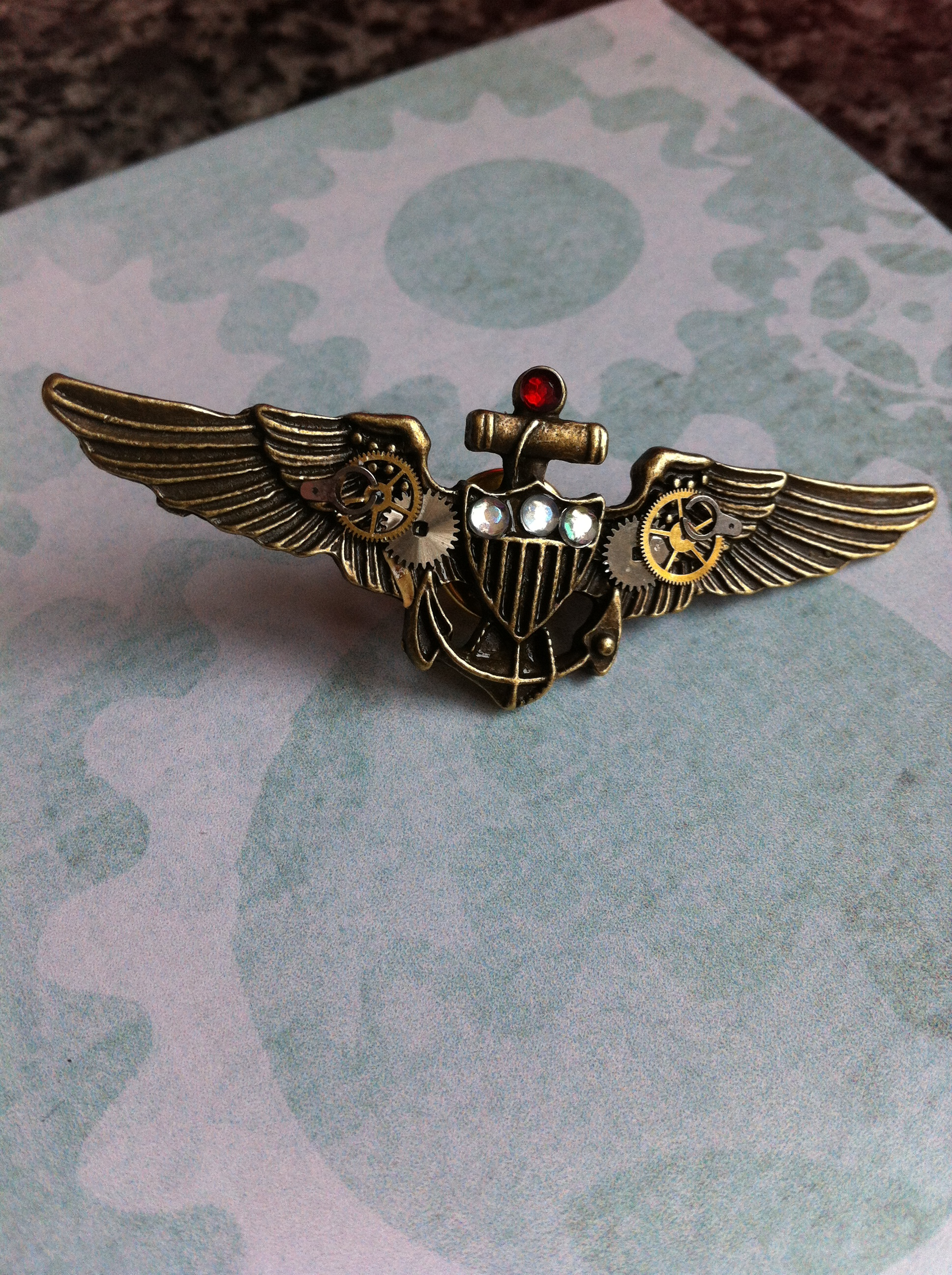 steampunk military broach
