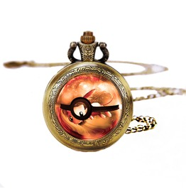 Pokeball Mew Pocket Watches Necklace,Gift Necklace,Pokemon Necklace,For Women D219