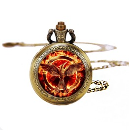 Hunger Games Mockingjay Pocket Watches Necklace,Gift Necklace,Unisex Necklace,For Women D251
