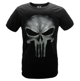 Regular/Plus Sizes Punisher Print Short Sleeve T Shirt