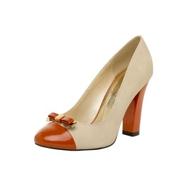 Earth_orange_and_beige_pump_with_bow_pumps_2