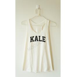 Kale Tshirt Funny Shirt Text Tshirt Word Tshirt Racer Back Tank Women Shirt
