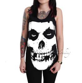 Misfits Band Women's Ladies Girls Black Cotton Tank Top Vest Shirt