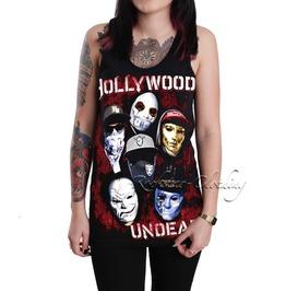 Hollywood Undead Women's Ladies Girls Black Cotton Tank Top Vest Shirt