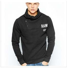 Mens Casual High Neck Sweatshirts Plus Sizes