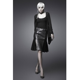 Gothic Alternative Leather Skirt Punk Rave Metal, Grunge