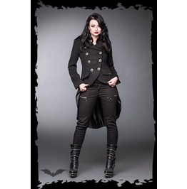 Gothic Victorian Steampunk Dip Back Coat Buckles
