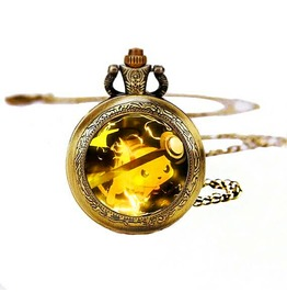 Pokeball Raichu Pocket Watches Necklace,Gift Necklace,Unisex Necklace D233