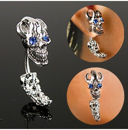 Curved Skull Head & Tail Gem