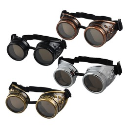 Black white red yellow unisex steampunk victorian vintage looking goggles sunglasses 6