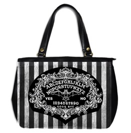 Ouija Board Baroque Stripe Large Hand Bag 2 Sided