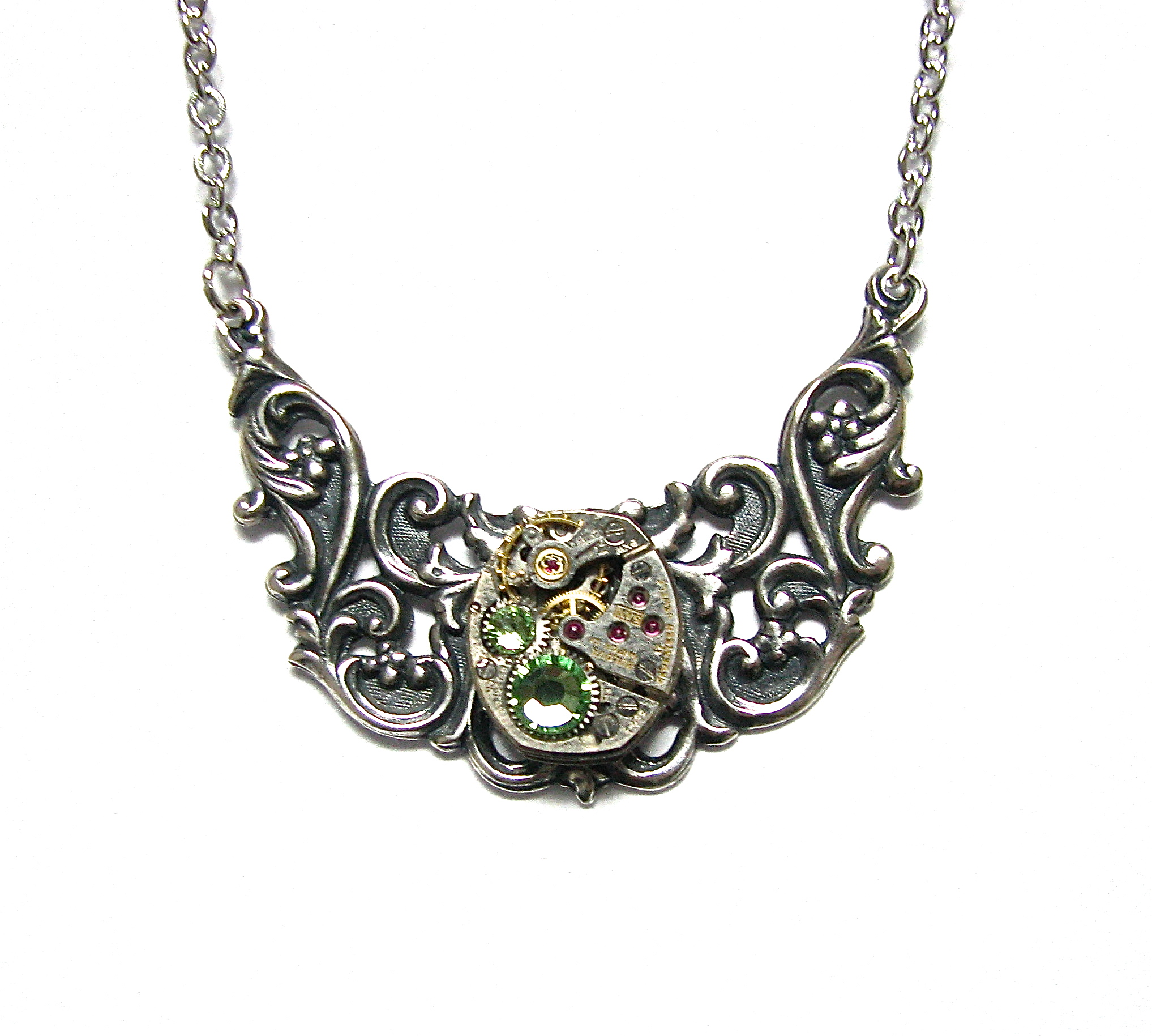 victorian filigree steampunk necklace