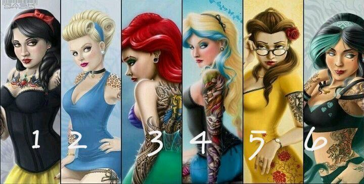 Metal Disney Princesses