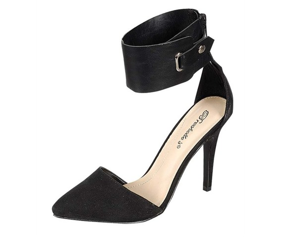 Black Heels With Thick Ankle Strap