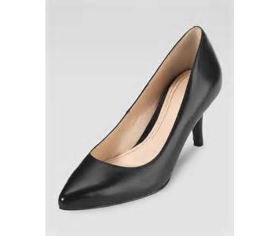 Sharp Pointed Toe Black Low Pump-Pumps
