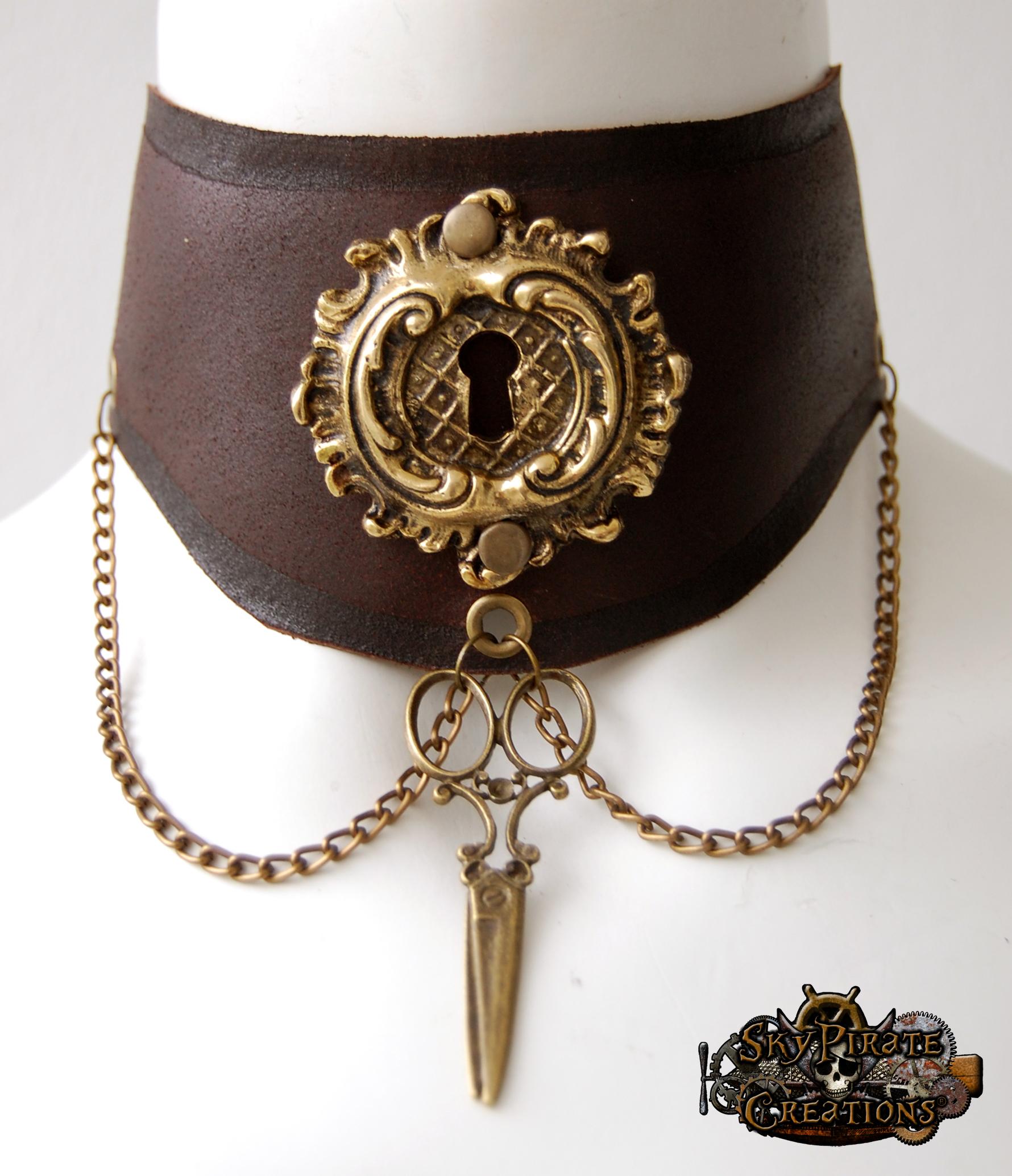 steampunk gothic choker