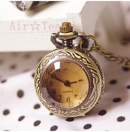 70%Off Victorian Cube Crystal Mini Pocket Watch Necklace