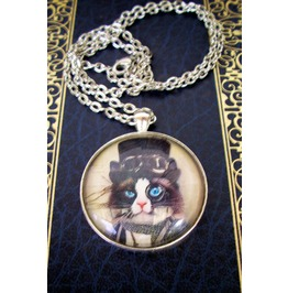 Steampunk cat pendant n137_pendants_6