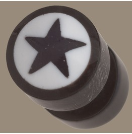 Horn Bone Star Split Ear Plug Normal Ear Piercing