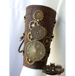 Steampunk Time Travel Leather Bracer