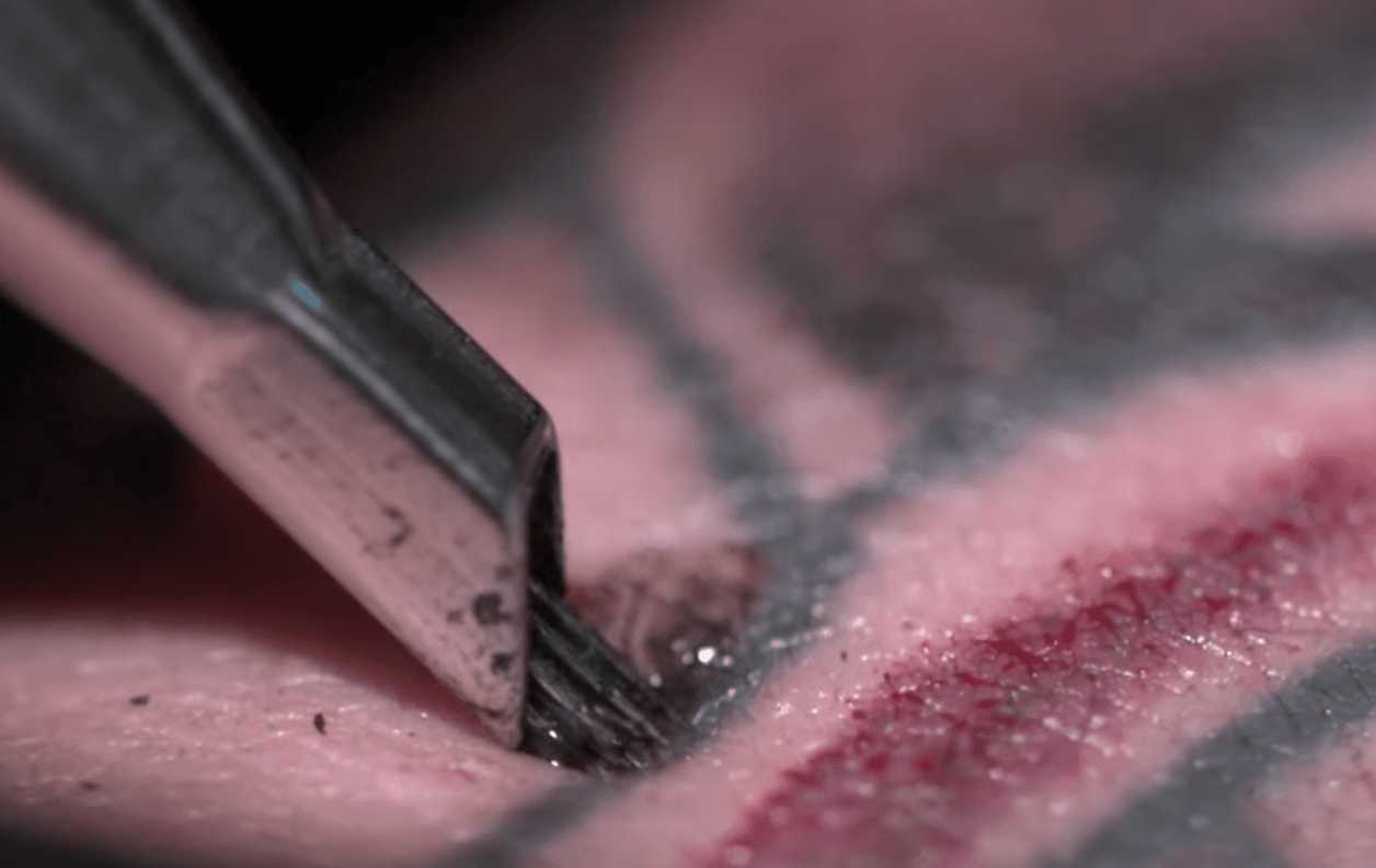 Tattooing in slow motion a must watch video