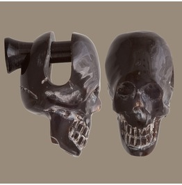 Horn Skull Plug Earring Sizes 2/3/4/6mm Gauge 12/8/6/3