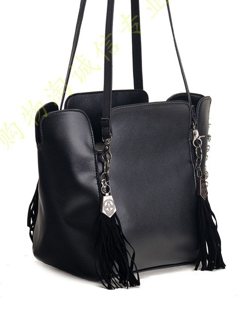 black tassel handbag