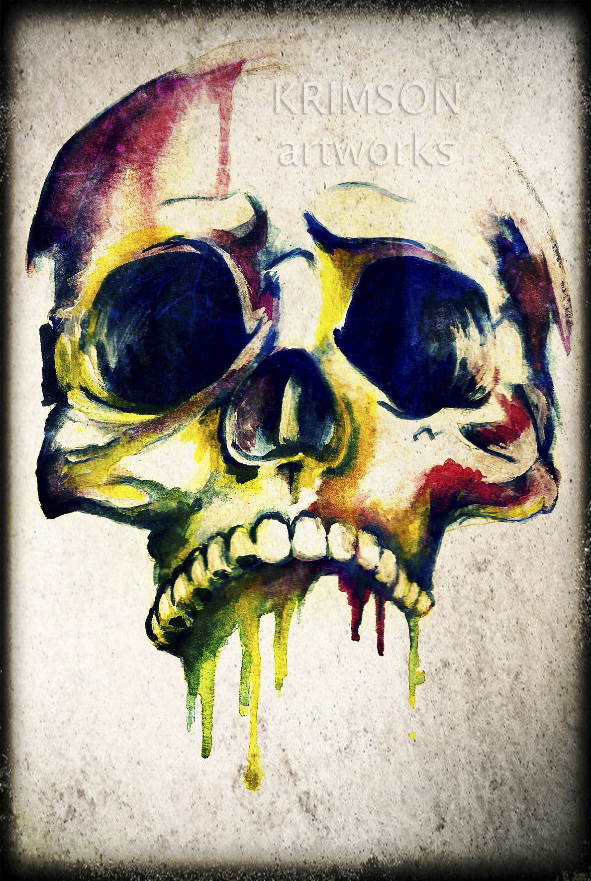 dripping skull krimson artworks