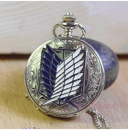 Victorian Silver Freedom Wing Pocket Watch Necklace