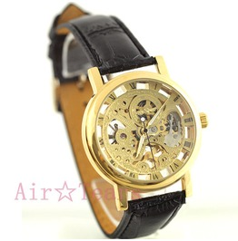 Retro Golden Hollow Automatic Mechanical Watch S001