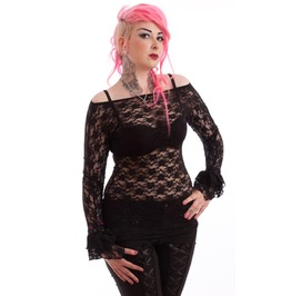 Necessary Evil Gothic Ziva Lace Top