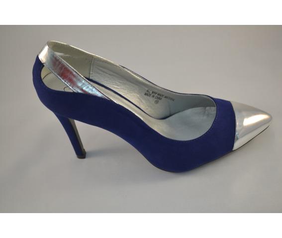 Violet Blue Cap Toe Heels-Pumps