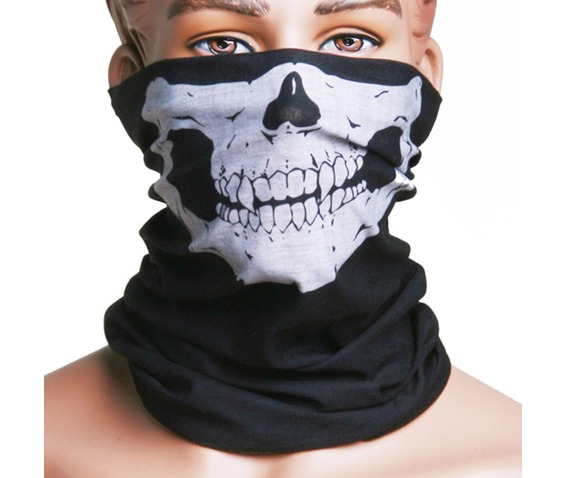 Winter Face Mask Skull Skull Printed Black Face Mask