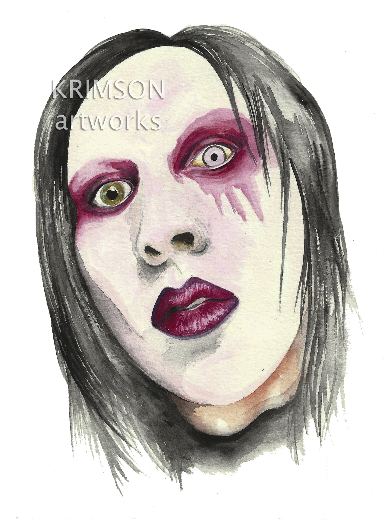 krimson artworks marilyn manson portrait