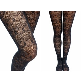 Fan Shape Gothic Lace Fishnet Tights/ Pantyhose