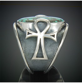 Mercurious Designs Sterling Silver Ankh Ring-Rings