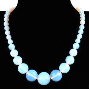 Mesmerising! Opal Round Bead Gemstone Necklace