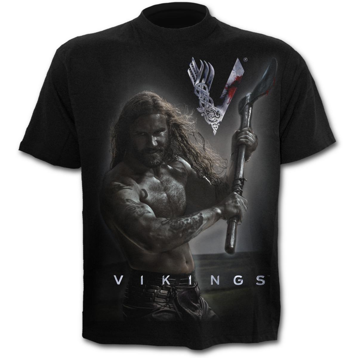 Rollo Axe Keep Calm Vikings T Shirt Black