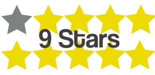 9 stars 5