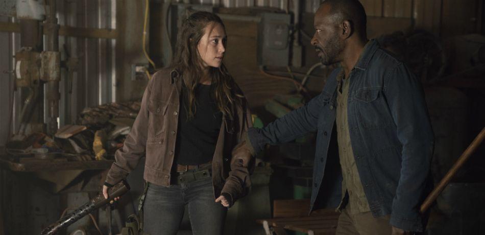 Amcs fear the walking dead season 4 mid season premiere crossover the walking dead alicia and morgan