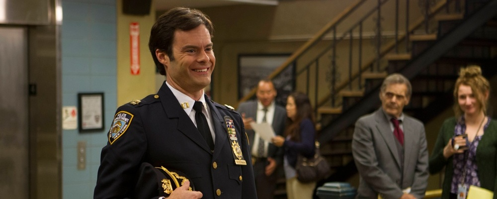 Brooklyn nine nine season 3 episode 1 premiere new captain captain seth dozerman bill hader crop