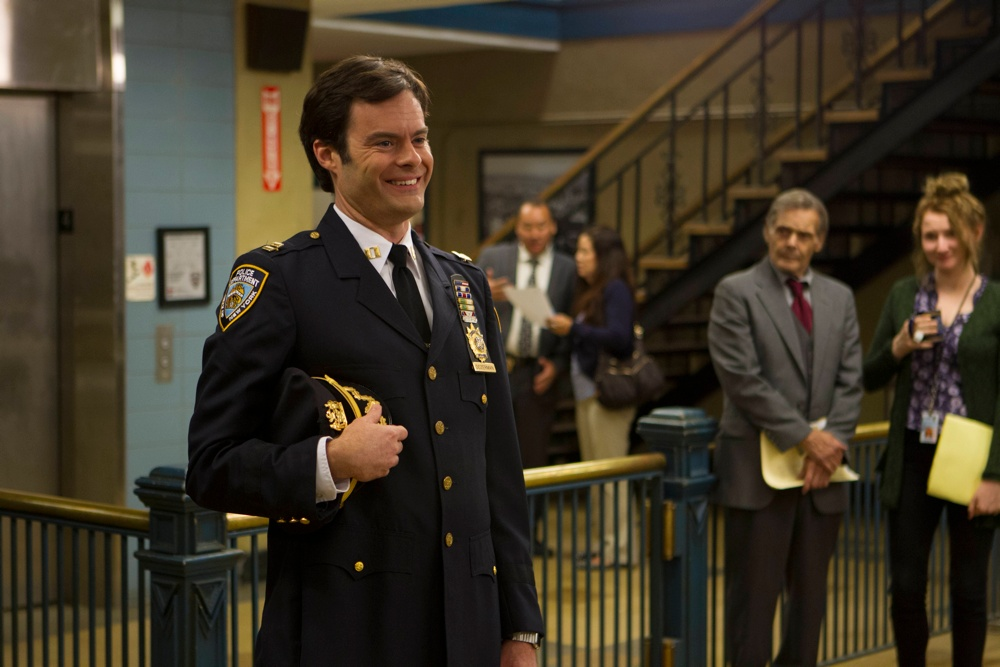 Brooklyn nine nine season 3 episode 1 premiere new captain captain seth dozerman bill hader