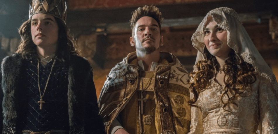 History channels vikings season 5 episode 13 a new god bishop heahmund king alfred and princess elsewith 1